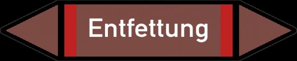 Rohrleitungskennzeichnungen - Entfettung