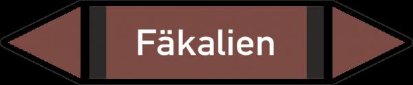 Rohrleitungskennzeichnungen - Fäkalien