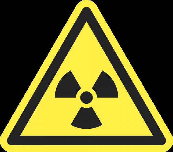 Warnung vor radioaktiven Stoffen oder ionisierender Strahlung ISO 7010-W003